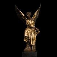 Atlie бронзы Бронзовый Крылатый победа леди Богиня Афина мифологии Скульптура статуя Ангел бронзовая Статуи Французский сувенир