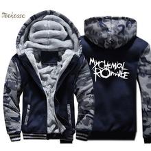 цены на Band Punk Rock Hoodie Men Cool Hooded Sweatshirt Mens Kpop Coat Winter Thick Fleece Warm Zip up Jacket Hip Hop Streetwear 4XL  в интернет-магазинах