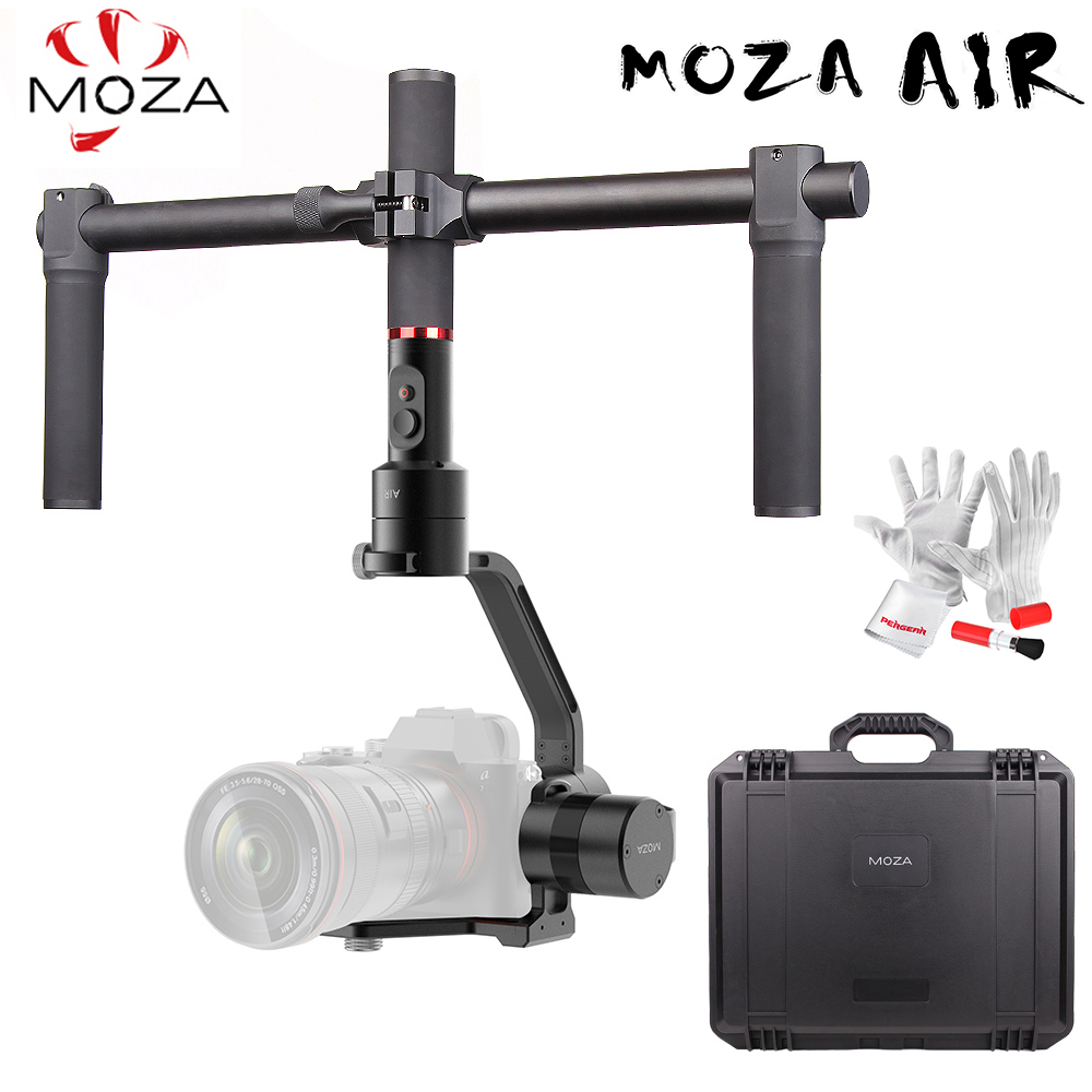 MOZA Air 3-Axis Handheld Gimbal Stabilizer Dual Handle Case for Canon Nikon SONY A7 Cameras Load 3.2 KG VS Zhiyun Crane V2 Plus zhiyun crane 2 3 axis handheld gimbal stabilizer for dslr cameras sokani sk 5 5 4k hdmi monitor for sony canon etc cameras