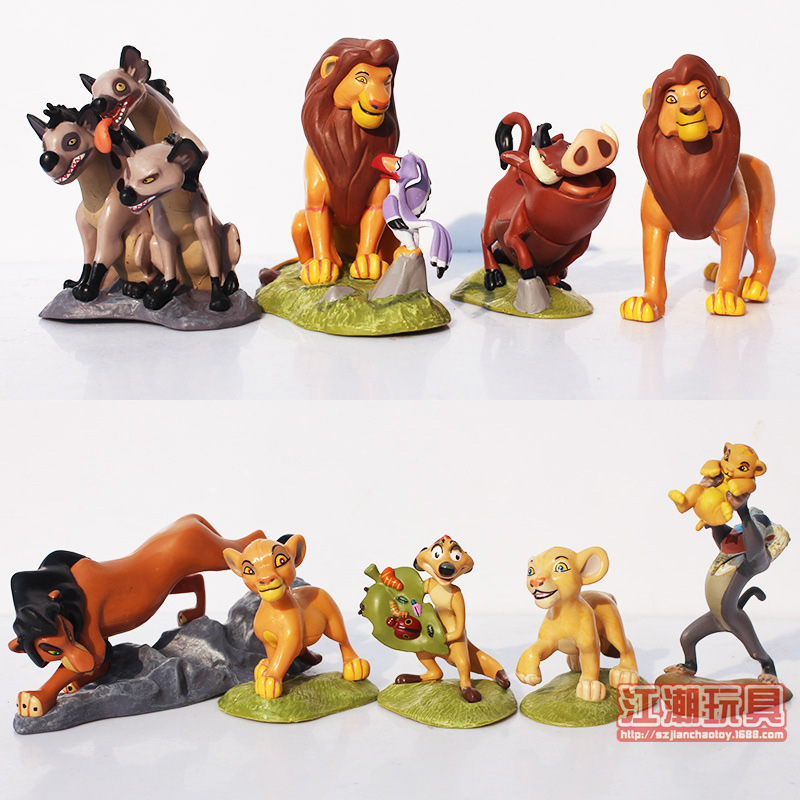 Disney New Finger Toy 9pcs/set 5-8cm The Lion King Pvc Action Figure Toys Doll Model Decoration for Childrens Birthday Gift