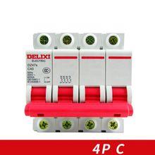 цена на Miniature Circuit breaker Air switch  DZ47S DELIXI MCB 4Pole  C Curvers 10A-63A  10A 16A 20A 25A 32A 40A 50A 63A