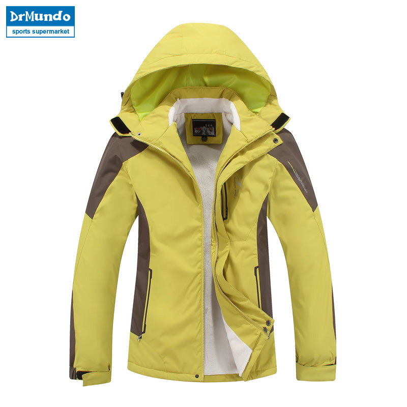 Plus Size Women ski jacket women Mountain Thicken Plus fleece ski-wear waterproof hiking outdoor snowboard jacket snow jacket detector men ski jacket hight waterproof mountain hiking camping jacket fleece hight windproof ski jacket