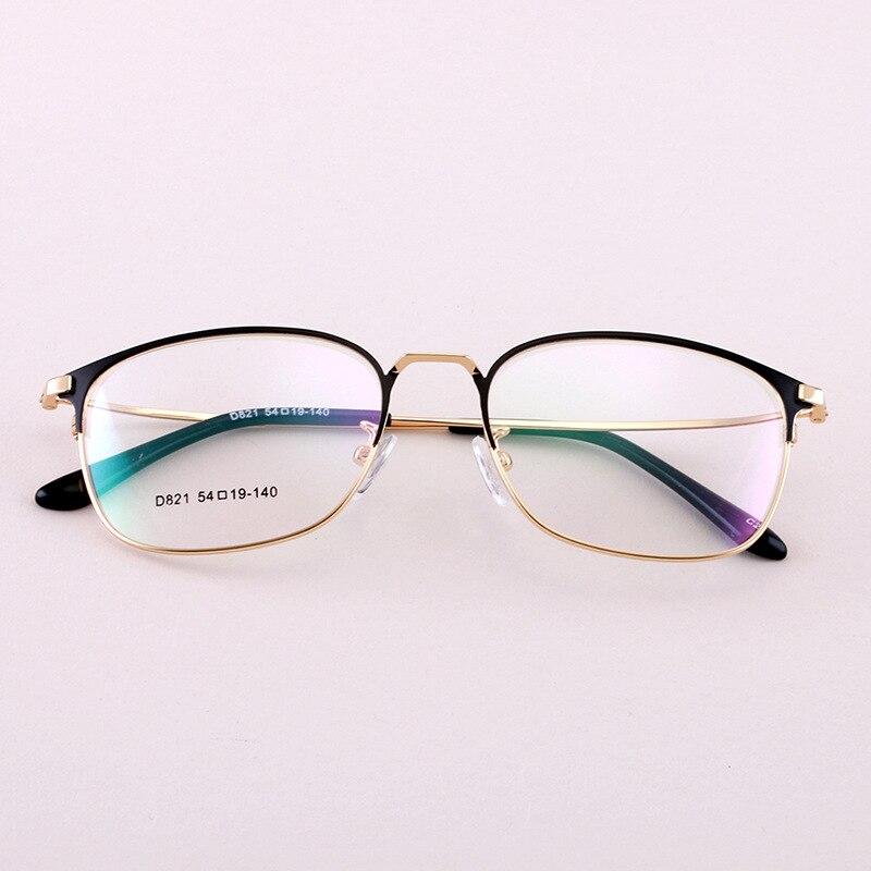 Vintage Unisex Alloy Spectacle Frame Men Women Good Quality Eyeglasses Retro Square Optical Eyewear Glasses