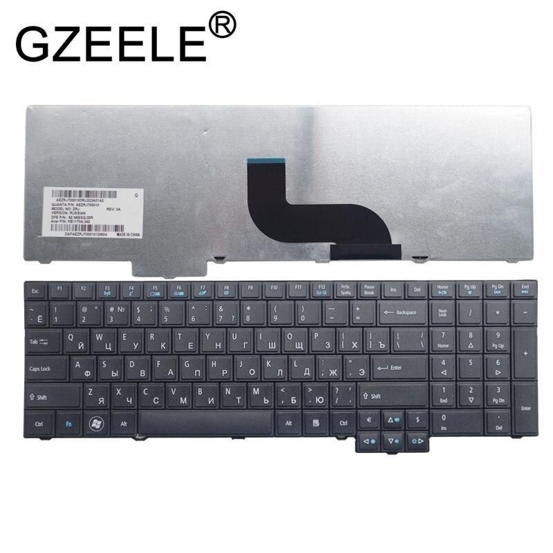 GZEELE NOUVEAU pour Acer pour TravelMate TM5760 8573 TM6495T 7750 5760 6595 6495 5760g 5760Z 5760ZG RU russe ordinateur portable clavier noir