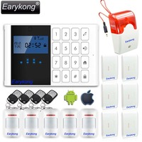 Comfortable Keyboard M2C Wireless GSM Alarm System LCD Screen For Home Burglar Alarm System Sensor Detector