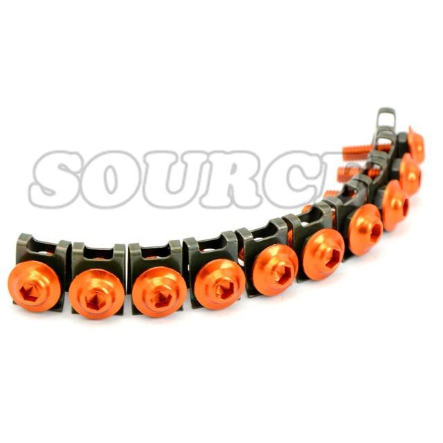10 pcs 6mm orange Universal CNC Motorcycle Accessories Fairing body work Bolts Screws For  ktm duke 390 duke 200 duke 125  990