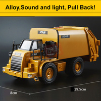 Sound and Light Version Garbage Truck toy Models Alloy Materials Handling Vehicles Clean Sanitation Trucks Car Toy