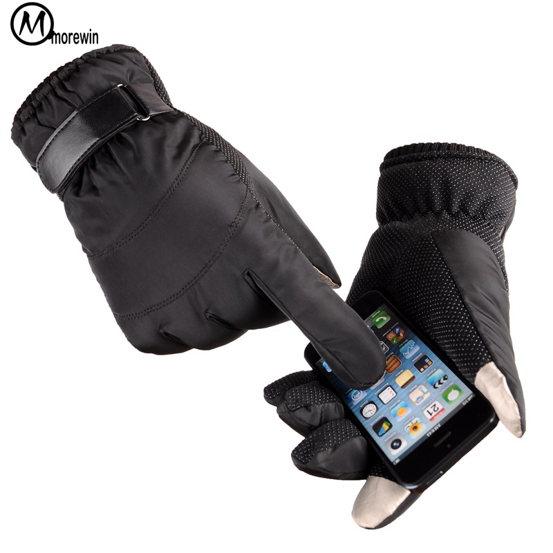 Morewin New Driving Gloves Men Touch Screen Solid Thick Mittens Male Fashion Outdoor Thick Gloves Mens Thermal Warm Mittens