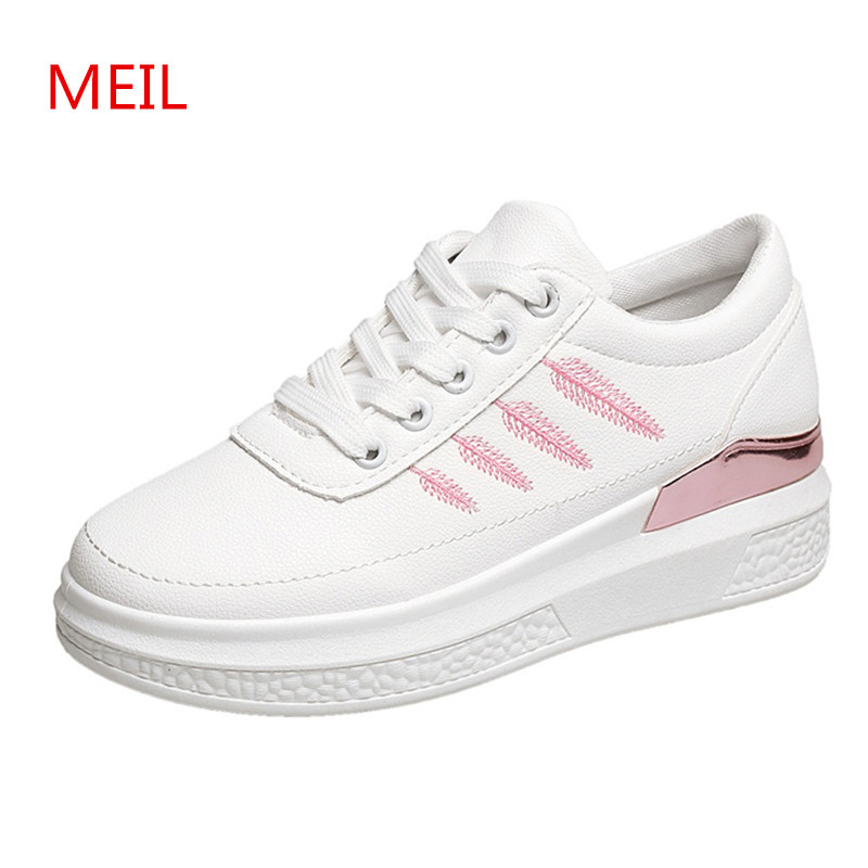 6094b093bec Platform sneakers women casual shoes PU leather fashion ladies White shoes  woman sneaker female shoes tenis chaussures femme