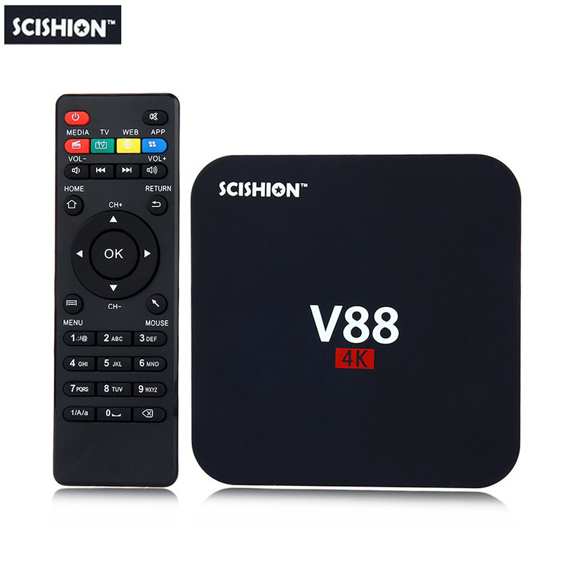 SCISHION V88 Android TV Box RK3229 Quad-Core CPU 1G+8G 4K movies WIFI 3D Movie smart med ...