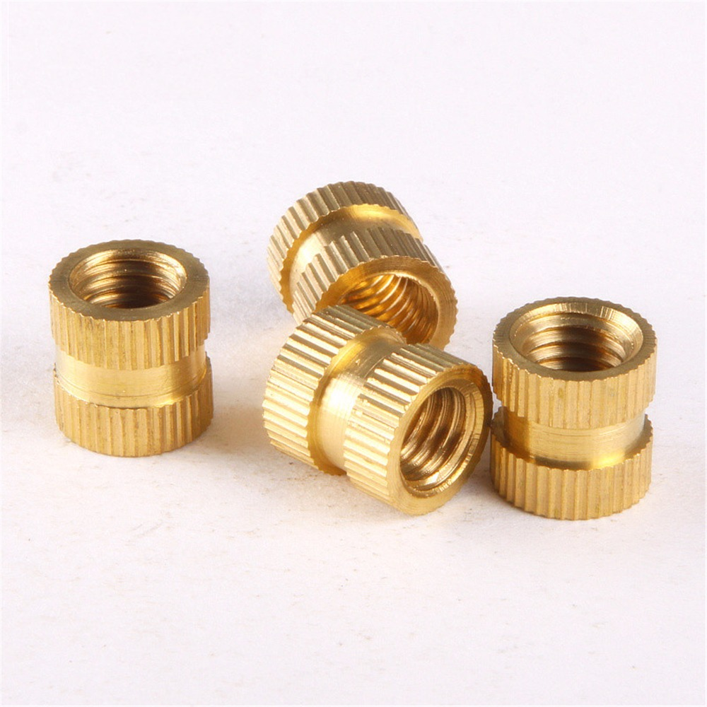 100PCS M4*4*5mm OD 5mm Brass Inserts Double Pass Copper Knurl Nut Embedded Fastener 2018 new fashion spring autumn genuine leather motorcycle boots shoes woman pointed toe ankle boots chunky mid heels women shoes