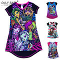 New Designer Monster Brand Kids Girl's High Monster Dress Girls child clothing baby dress princess dress summer child dress