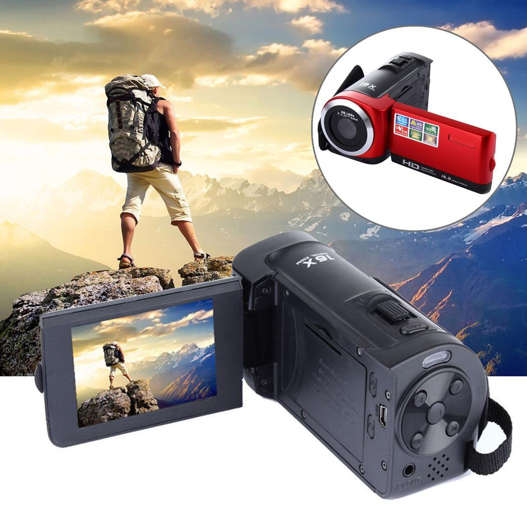 1080P Full HD 16MP Digital Video Camcorder Camera with HDC6A Rotating LCD Screen 16X SD/SDHC Card(max 32GB )
