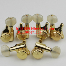 free shipping new electric guitar and acoustic guitar closed lock strings tuning peg in gold guitar button JN-07SP JN-26
