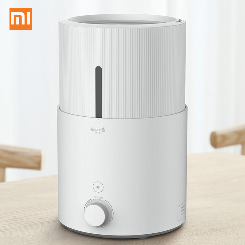 лучшая цена 2018 Original Xiaomi Mi Deerma DEM-SJS600 Air Humidifier For Home 5L Large Capacity Purifying Humidifier From Xiaomi Youpin
