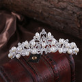 2016 Tiara Noiva Casamento Hair Sticks Pearl New Hot Sale Boho Women Wedding Headdress Headband Head Band Crown Chain Piece