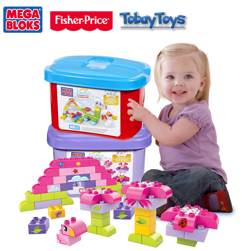 Genuine Brand Mega Bloks Baby Educational Toy Junior Builders Series Baby Play Bloks Earlier Bloque De Edificio FBC08 Toy CYR22 original brand mega bloks first builders series big building bag children block toy play funny educational sac de blocs dch55 54