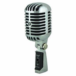 Image 1 - FREEBOSS FB W01 przewodowy dynamiczny mikrofon Retro styl Vintage profesjonalny Karaoke KTV Studio Mic Jazz Stage wokalny mikrofon