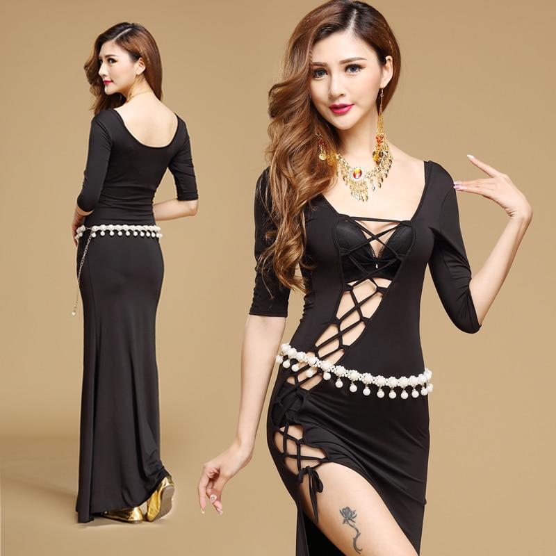 Kõhutantsu seelik Tantsuseelik idamaiste kostüümide otsemüük Naiste kleidikostüüm turvavööga, mitmevärviline T716