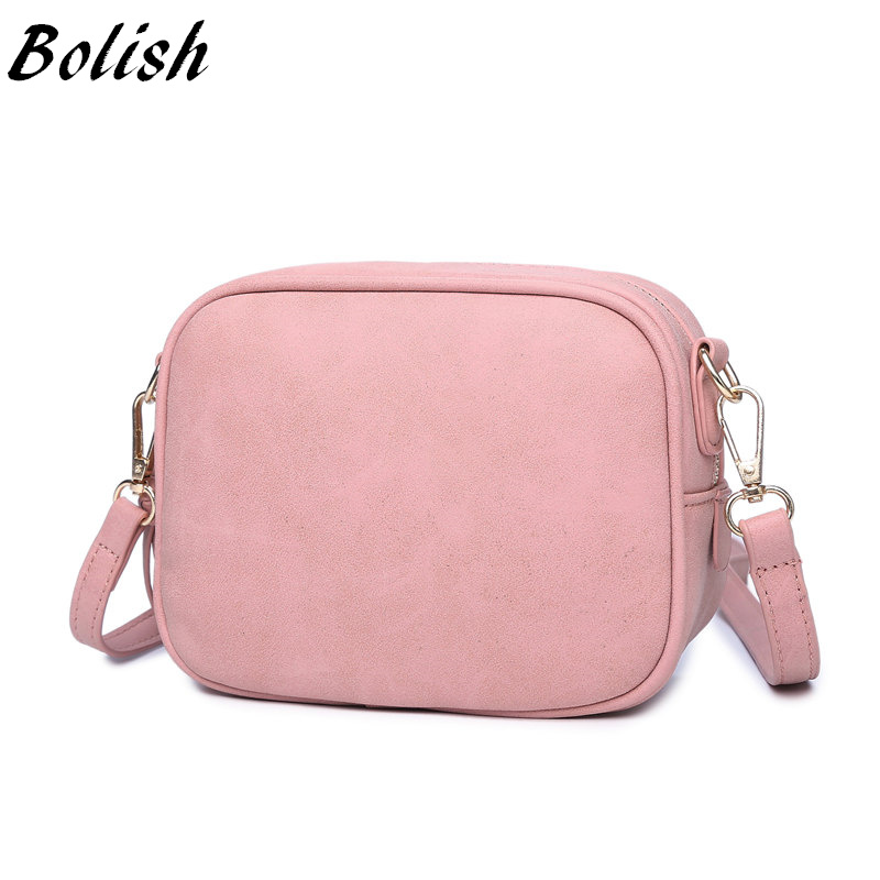 Bolish New Arrive Mini Nubuck Leather Women Crossbody Bag Fashion Spring and Sum