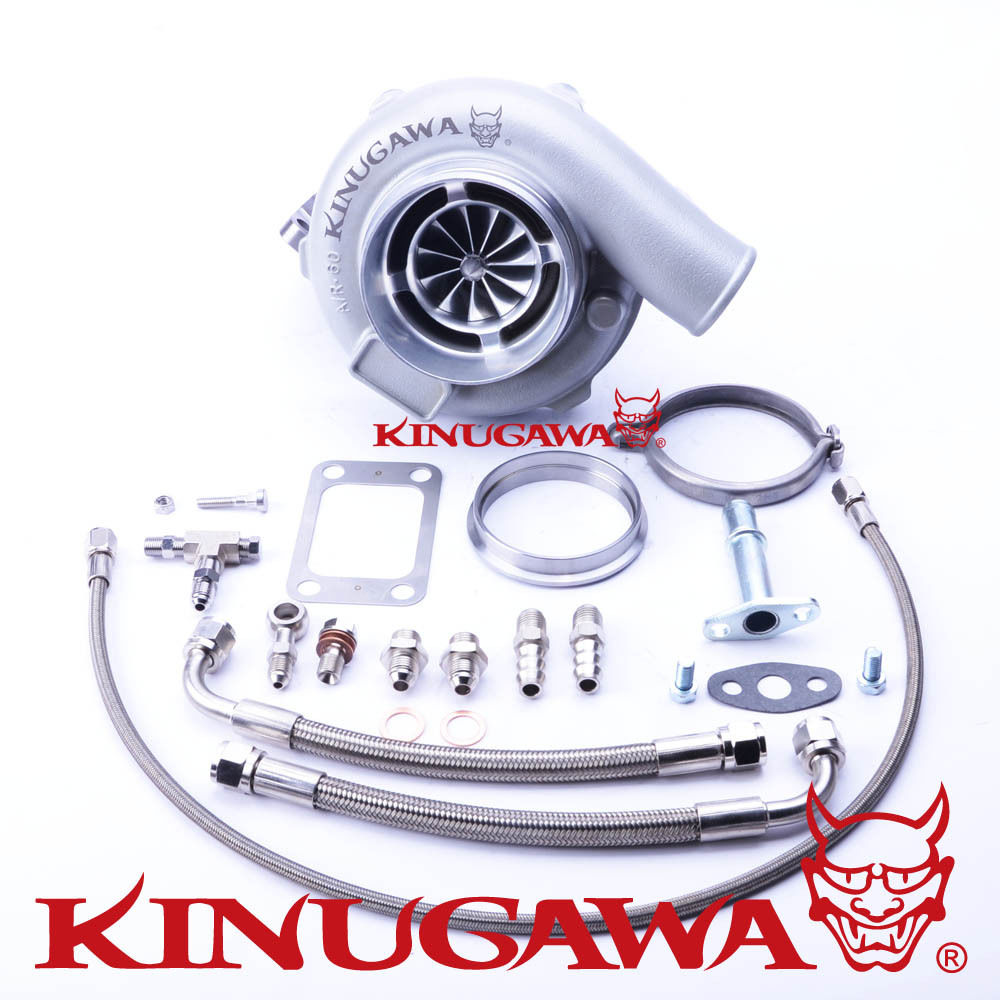 "Kinugawa Ball Bearing Turbocharger 4"" Anti Surge GTX3071R AR.61 T3 V Band for TOYOTA 1JZ GTE 2JZ GTE Top Mount
