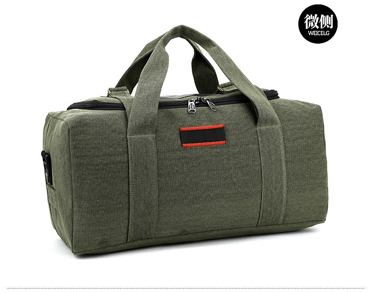 Men Outdoor Casual Canvas Gym Travel Duffel Bag Large Capacity High Quality Messenger Crossbody Shoulder Tote Travel Bags (11)