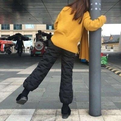Femmes Mode Chaud Épais En Taille Harem Épaissir La Canard Haute De Baggy A90802 Black Plus Du Lâche Duvet Hiver gray Bas Féminine Pantalon 4xFYdA4qSw