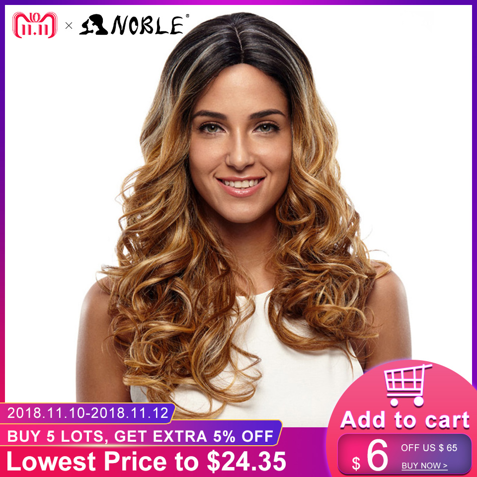 Noble Wigs For Black Women Long Wavy Synthetic Hair Lace ...