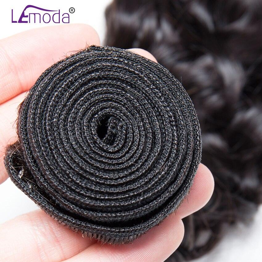 HTB1idh1X4 rK1RkHFqDq6yJAFXa2 Malaysian Water Wave Human Hair Bundles With Closure 3 or 4 Bundles With Closure LeModa Remy Hair Extensions Middle Free Closure