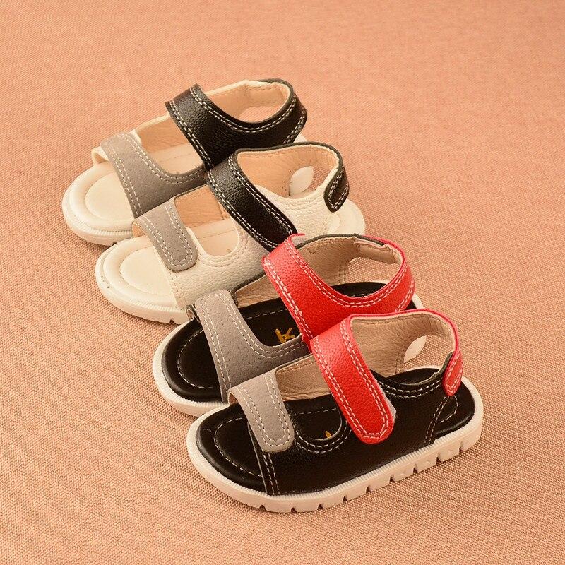 Afdswg Sommer Strand Schuhe Jungen Sandalen Künstliche Pu Kinder Stud Schuhe Weiß Mädchen Kid Flache Sandalen Rot Sandale Prinzessin