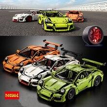 Decool 3368 Blocos de Construção Série Technic 3368 A B C 2726 PCS Brinquedos Compatíveis 42056 Tijolos Technic Serie Carro de Corrida modelo