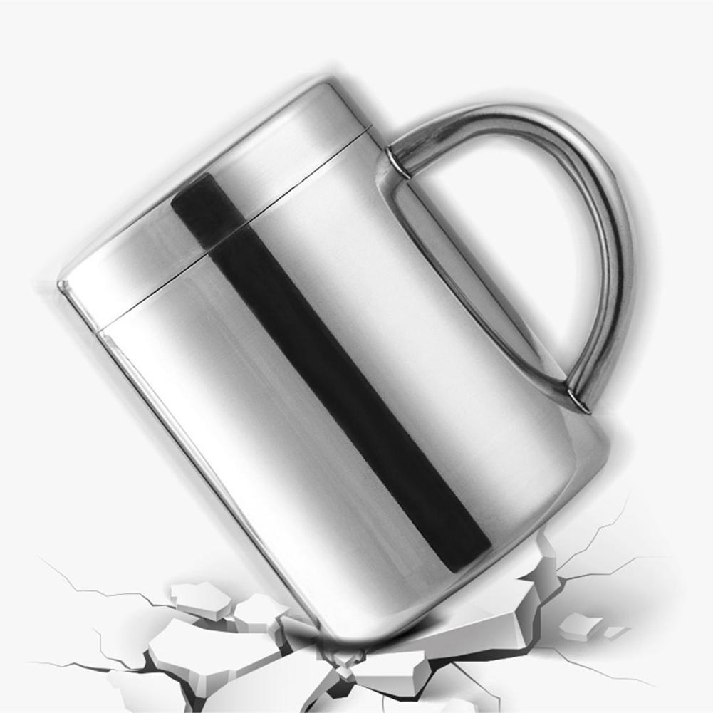Creative Stainless Steel Coffee Mug Milk Tea Camping Cup Travel Home Office Cup For Fruit Juice with Handle Кубок