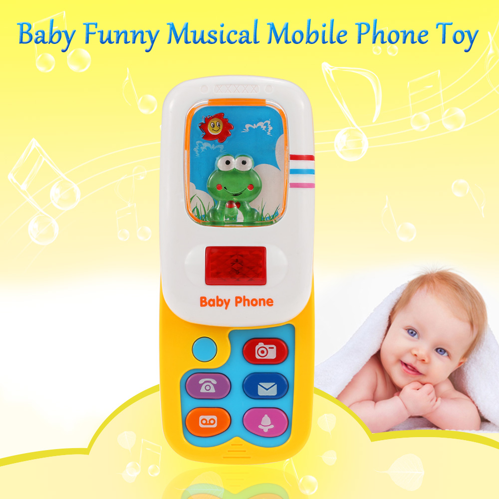 Popular Toy Phone Baby Funny Phone Toy Language Musical Mobile Phone with Music Button and Light Baby Toys