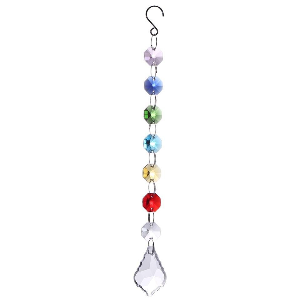 Chakra Crystal Sun Catchers Chandelier Crystals Ball Prism Pendant Rainbow Maker Hanging Chakra Cascade Suncatcher