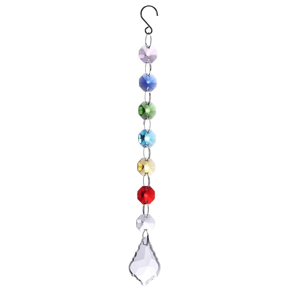 Colorful Chakra Crystal Sun Catchers Chandelier Crystals Ball Prism Pendant Rainbow Maker Hanging Chakra Cascade Suncatcher