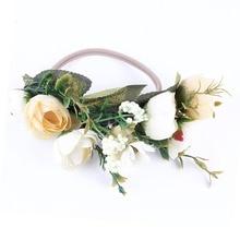 Floral simulation Baby Hairbands photoprop  For Girls Headband elastic nylon Handmade Newborn Hair Accessiores