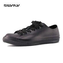 SWYIVYรองเท้าผู้หญิงLow Cutรองเท้าผ้าใบสีขาวกันน้ำรองเท้าผู้หญิงLacing Up 2018หญิงรองเท้ากันน้ำ