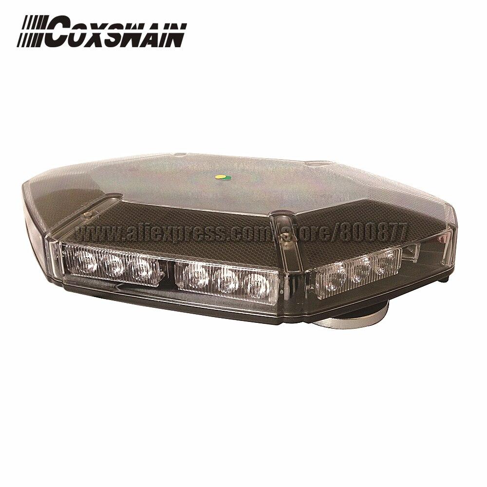 LED Mini lightbar, 30pc Gen3 1W LED, Powered by Cigarette lighter, Magnetic install VS-950B
