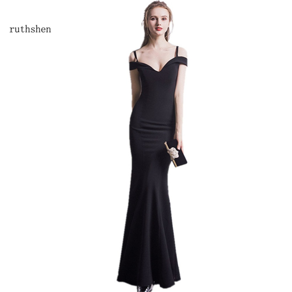 ruthshen Mermaid   Evening     Dresses   Off Shoulder Simple Ladies Formal Prom Gowns Cheap Sexy Special Occasion   Dress   2018 Vestido