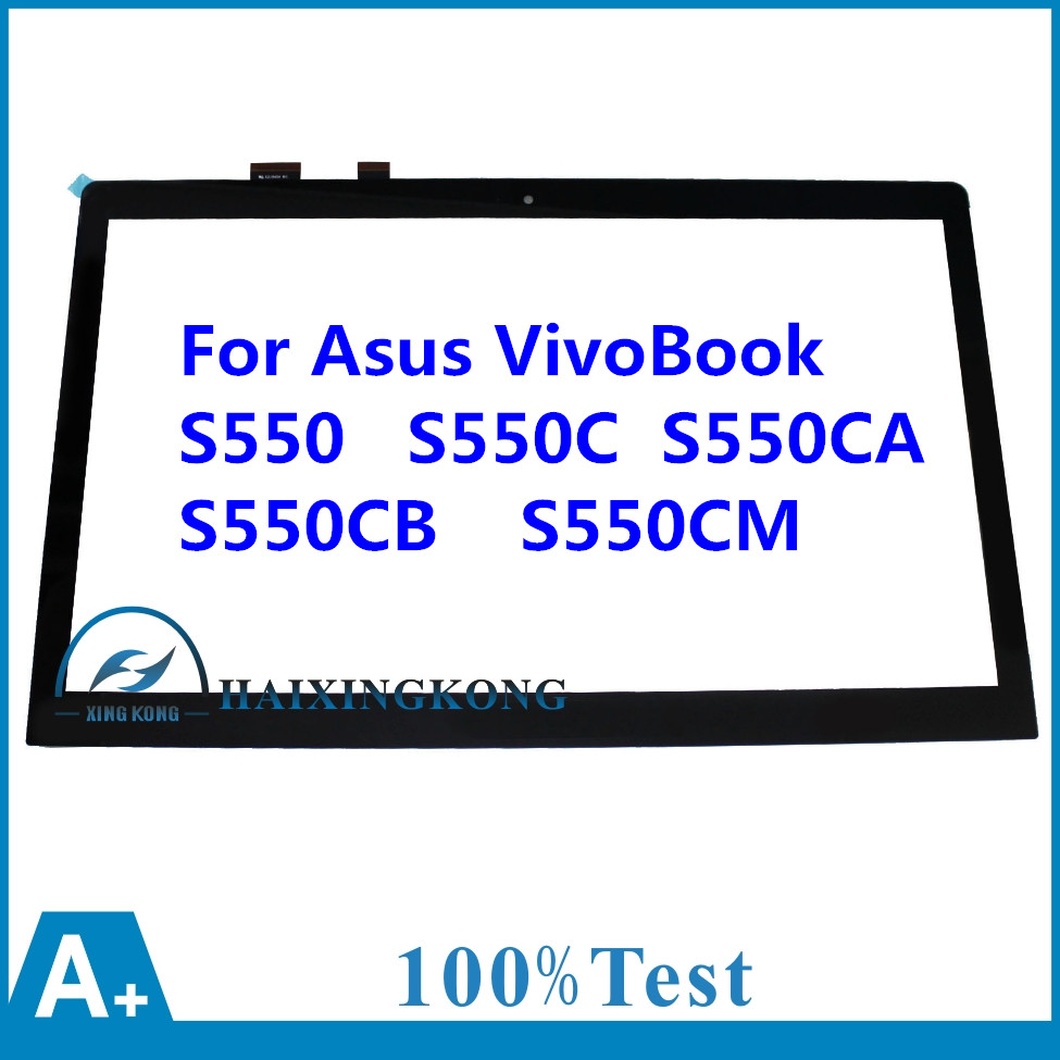 For Asus VivoBook S550 S550C S550CA S550CB S550CM 15.6 Touch Screen Touch Panel Digitizer Glass Lens Repair Parts Replacement touch screen digitizer glass for asus vivobook v550 v550c v550ca tcp15f81 v0 4