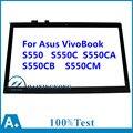 """Para asus vivobook s550 s550c s550ca s550cb s550cm 15.6 """"de pantalla táctil panel táctil lente de cristal digitalizador de reparación de piezas de repuesto"""