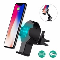 Fast Wireless Car Charger Wofalo Retractable Wireless Car Charger Phone Bracket 360Rotatio Charging For Samsung Charger