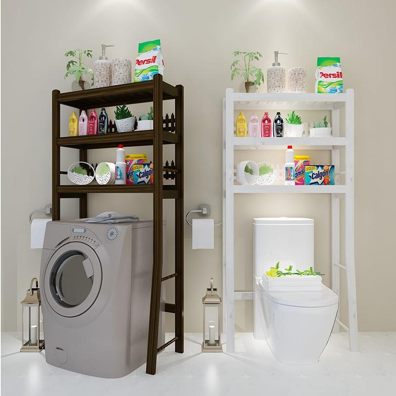 Wooden Toilet Shelf Bathroom Rack The Washing Machine Frame