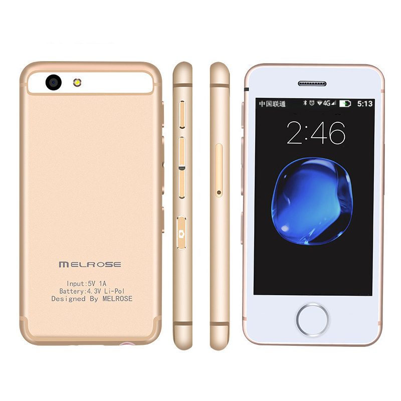 Smallest android phone Melrose S9 S9P 3G WIFI Ultra slim mini mobile phone MTK6580 Quad core cell phones for children kids-in Cellphones from Cellphones & Telecommunications