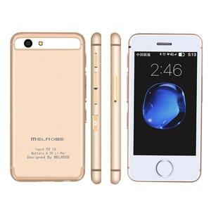 Image 1 - Маленький телефон на android Melrose S9 S9P 3G, Wi Fi, ультратонкий мини мобильный телефон, MTK6580 четыре ядра, сотовые телефоны для детей
