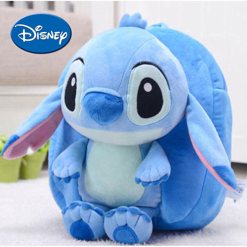 Disney  Kids Stitch Backpack 30cm Angel Cute Children Outdoor Schoolbag Soft Safe PP Cotton Stuffed Plush Toys Gift