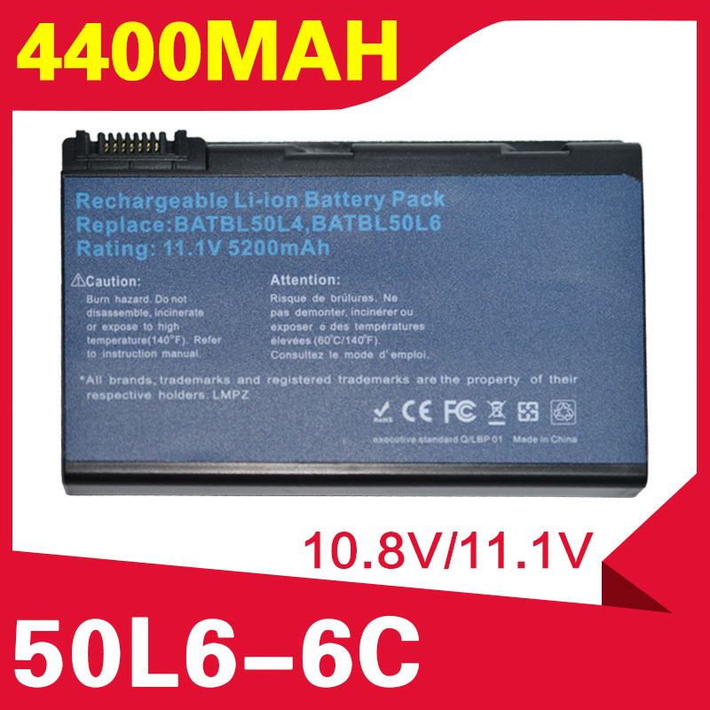 ApexWay Battery For Acer Travelmate BATCL50L BATCL50L6 2450 2490 4200 4230 4260 4280 5210 5510 BATBL50L4 BATBL50L6 BATBL50L8H
