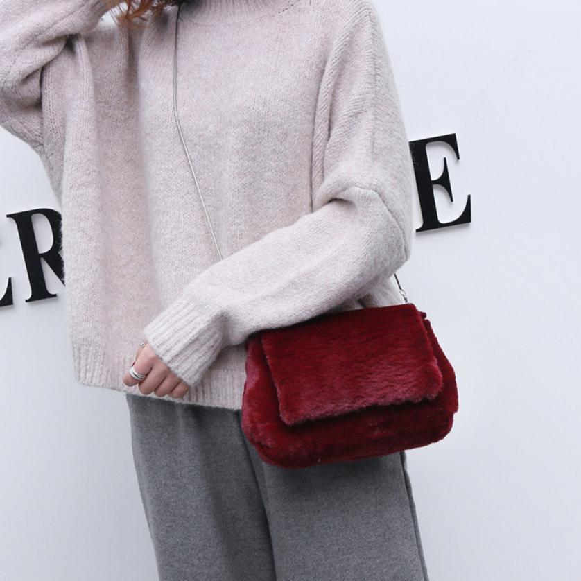 Molave Shoulder Bag new high quality Felt Fashion Solid Plush Hasp Soft Messenger Crossbody shoulder bag women FEB28
