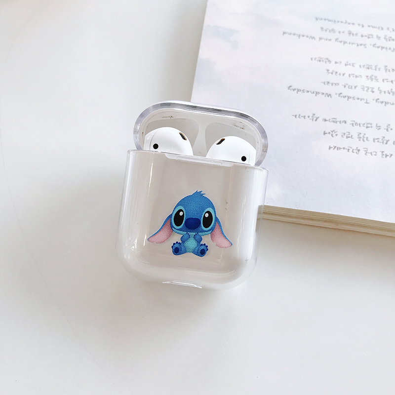 Image 5 - Minnie Mickey Stitch Pooh Wireless Earphone Charging Cover Bag for Apple AirPods 1 2 Disneys Dumbo hard PC Bluetooth Box Heads-in Earphone Accessories from Consumer Electronics
