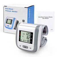 Blood Pressure Monitor Automatic Digital LCD Test Heartbeat Wrist Measure Sphygmomanometer